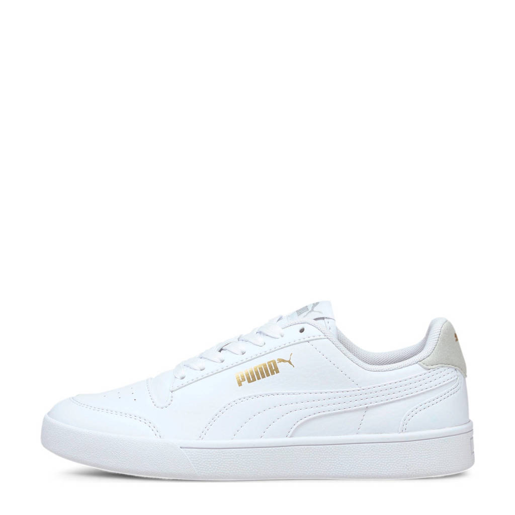 Puma Shuffle Jr sneakers wit/lichtgrijs, Wit/lichtgrijs