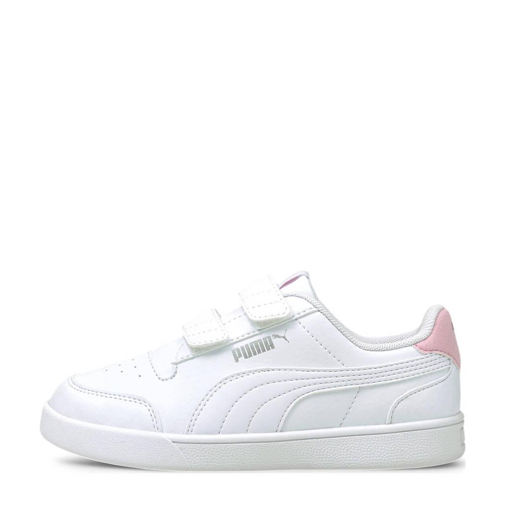 Puma Shuffle V PS sneakers wit/roze, Wit/roze