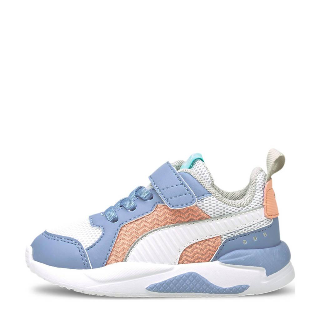 Puma X-Ray Neon Pastel sneakers lichtblauw/wit/abrikoos, lichtblauw/wit/roze/turquoise