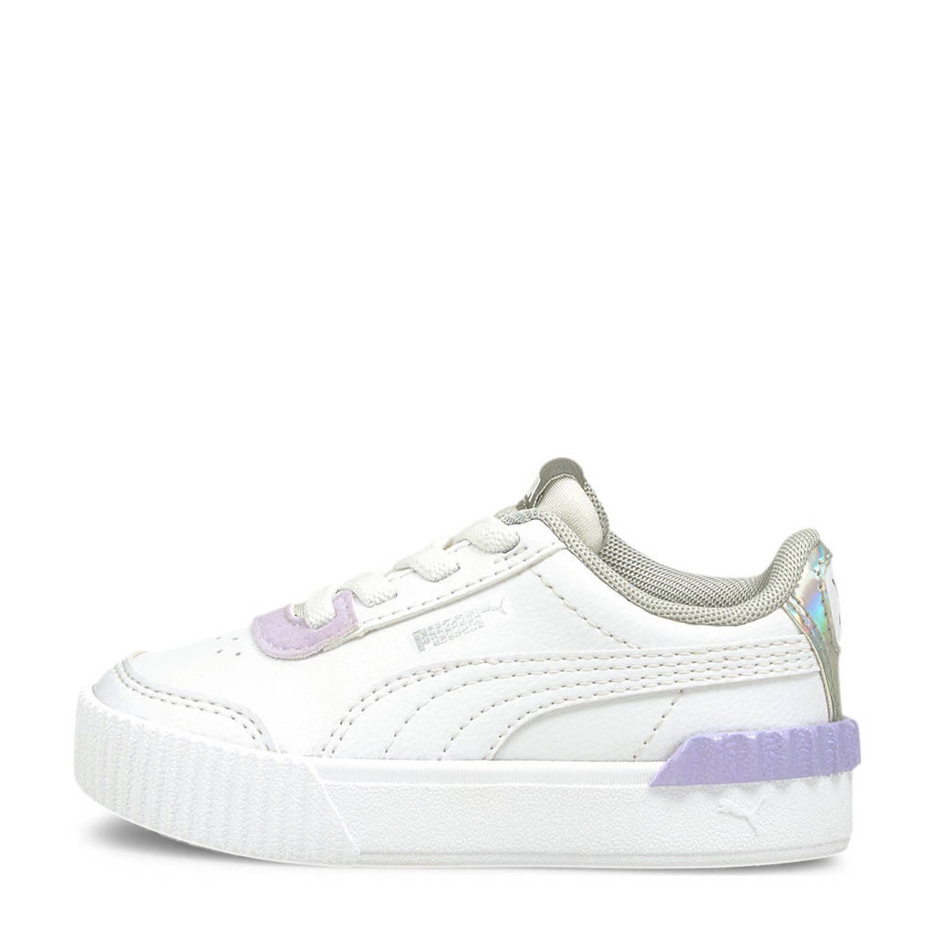 Puma Carina Lift Shine sneakers wit/lila, Wit/lila