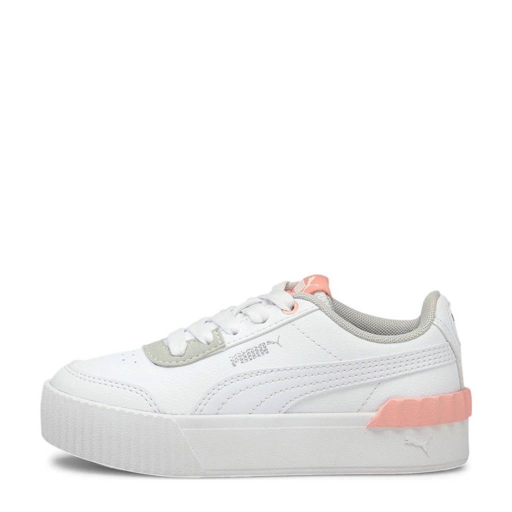 Puma Carina Lift sneakers wit/lichtoranje, Wit/lichtoranje