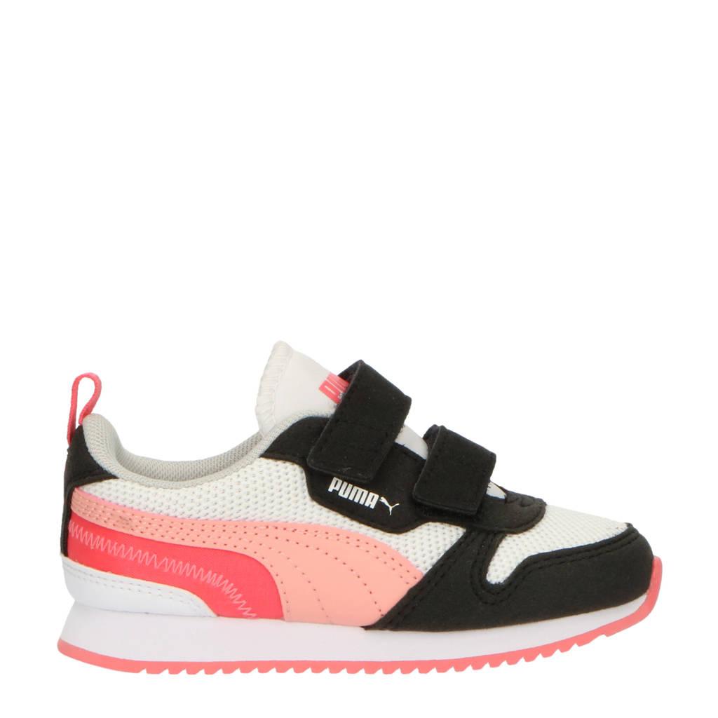 Puma R78 V Inf sneakers wit/roze/zwart, Wit/roze/zwart