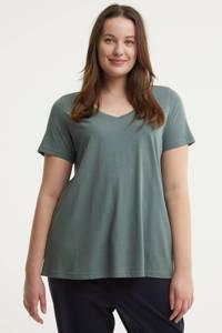 Zizzi T-shirt MAMANDA grijsblauw, Grijsblauw