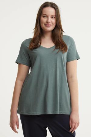 T-shirt MAMANDA grijsblauw