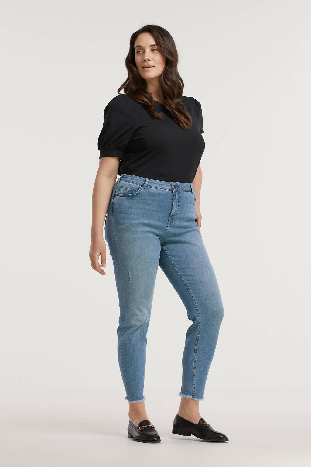 Zizzi cropped skinny jeans Amy light denim, Light denim