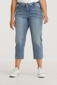Zizzi cropped straight fit jeans JVERA light denim, Light denim