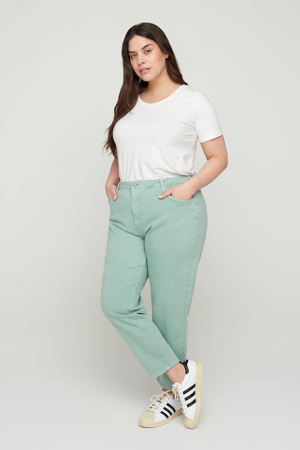 Zizzi high waist mom jeans Jlila katoen, Katoen
