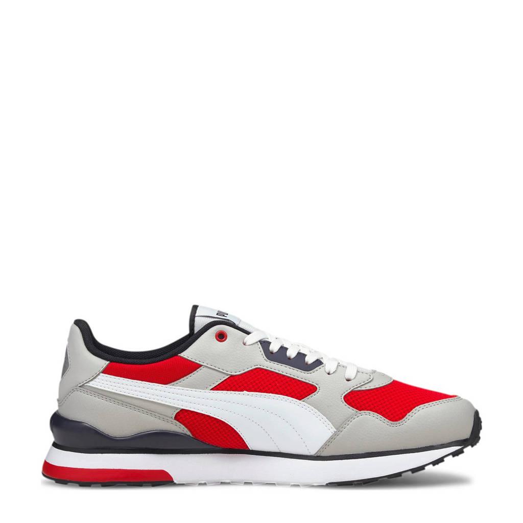 Puma R78 FUTR  sneakers grijs/wit/rood, Lichtgrijs/wit/rood
