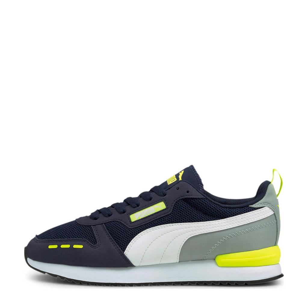 Puma R78  sneakers donkerblauw/grijs/geel, Donkerblauw/grijs/geel