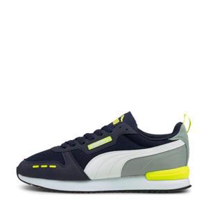 R78  sneakers donkerblauw/grijs/geel