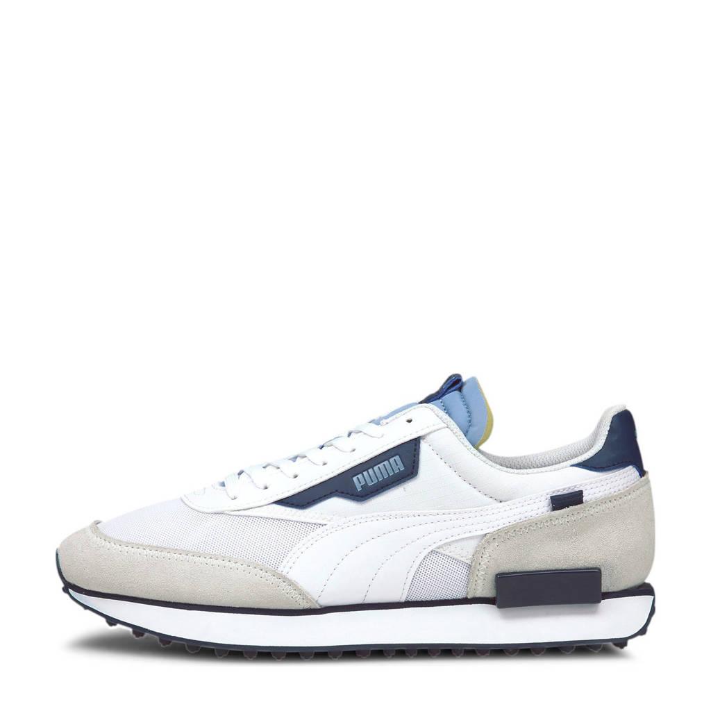 Puma Future Rider Core sneakers wit/blauw/ecru, Wit/blauw