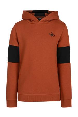 hoodie Penn camel/zwart