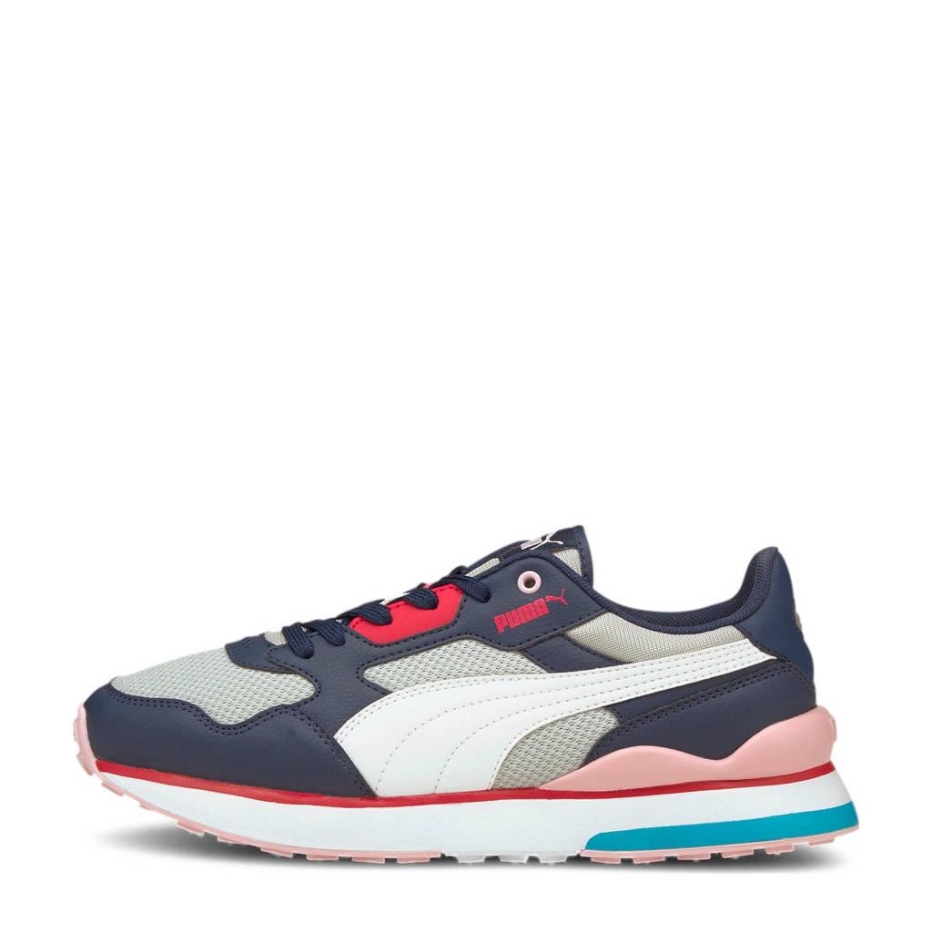 Puma R78 FUTR  sneakers donkerblauw/wit/grijs/roze, donkerblauw/wit/lichtgrijs/roze