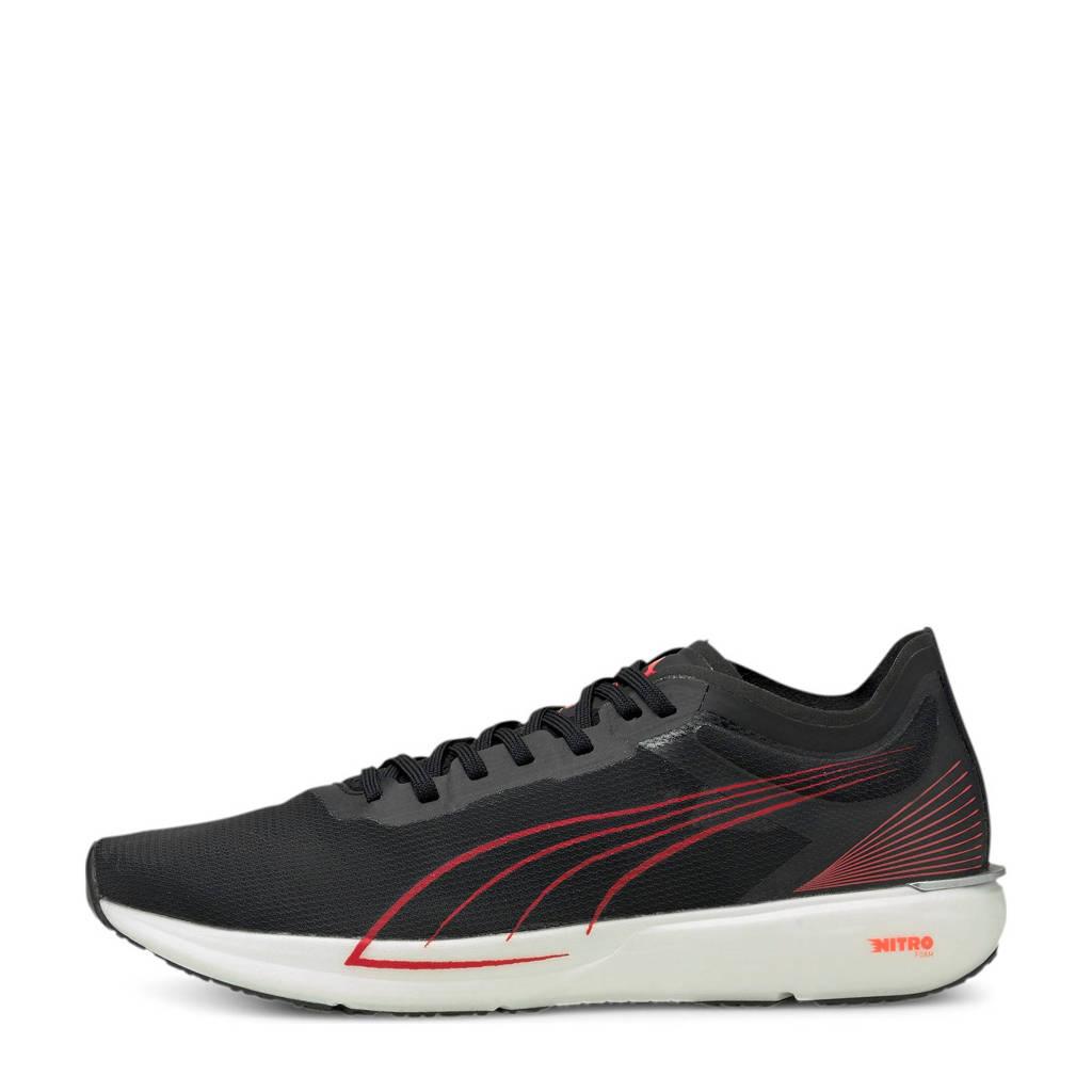 Puma Liberate Nitro  hardloopschoenen zwart/oranje, Zwart/oranje