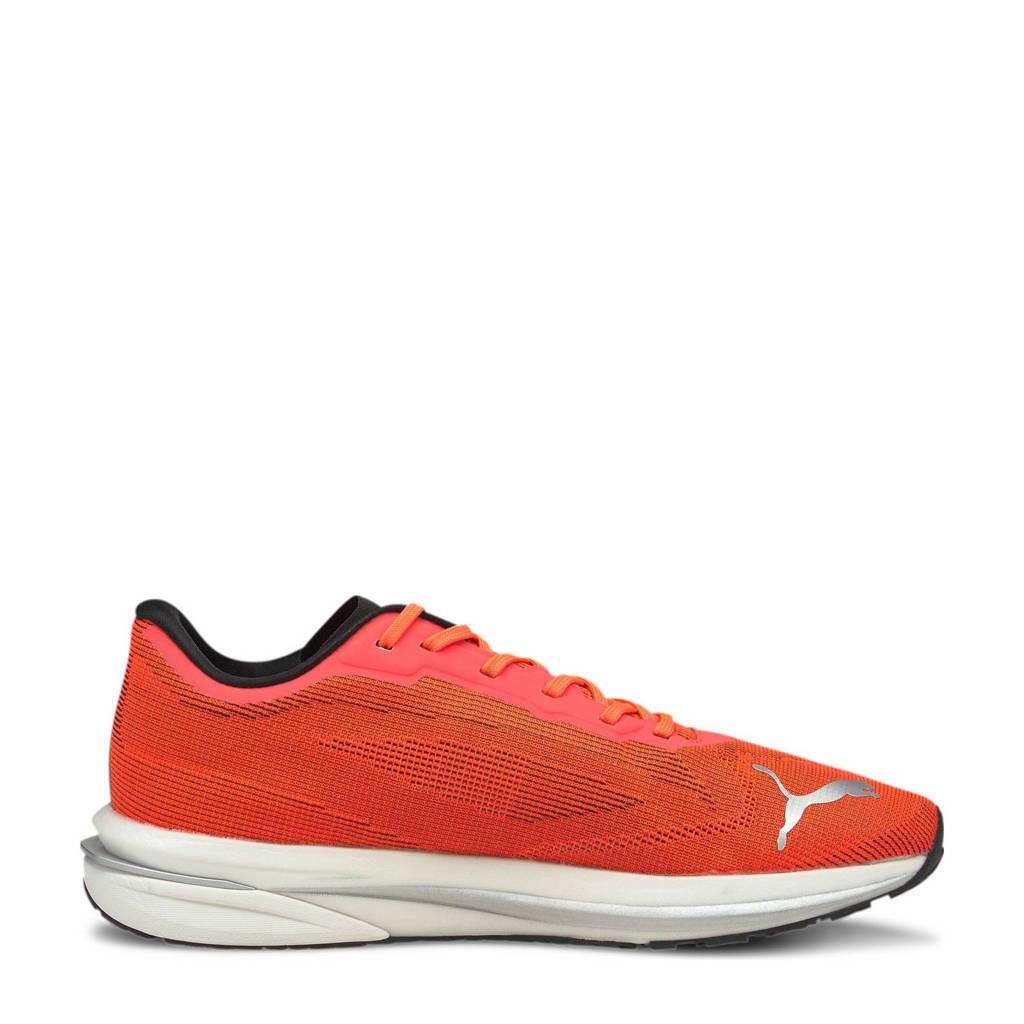 Puma Velocity Nitro  hardloopschoenen oranje/zwart/zilver