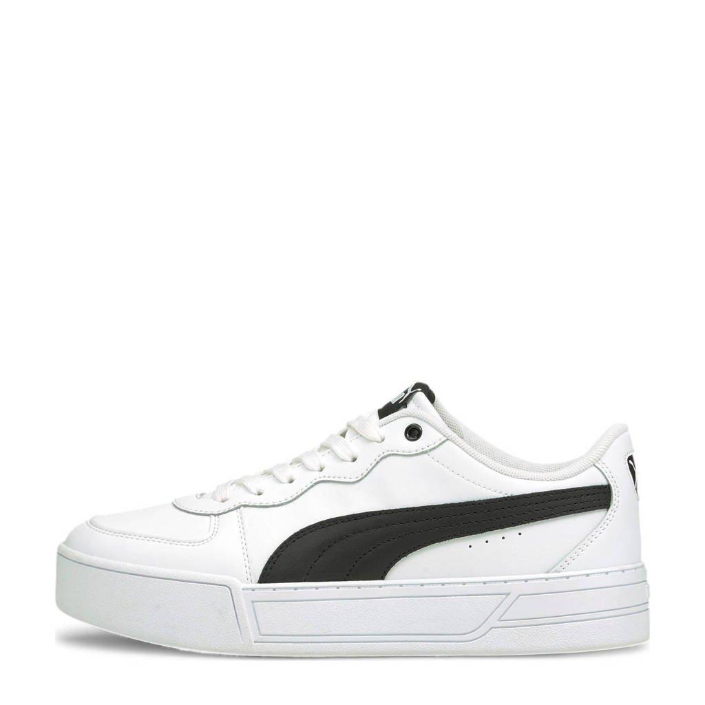 Puma Skye  leren sneakers wit/zwart, Wit/zwart