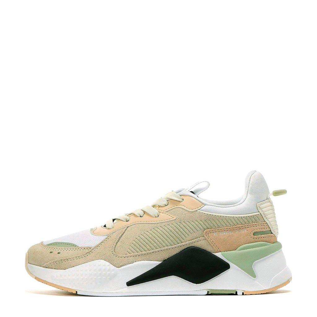 Puma RS-X Reinvent  suède sneakers wit/zand/zwart, Wit/zand/zwart