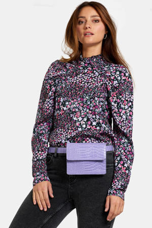 top met all over print roze