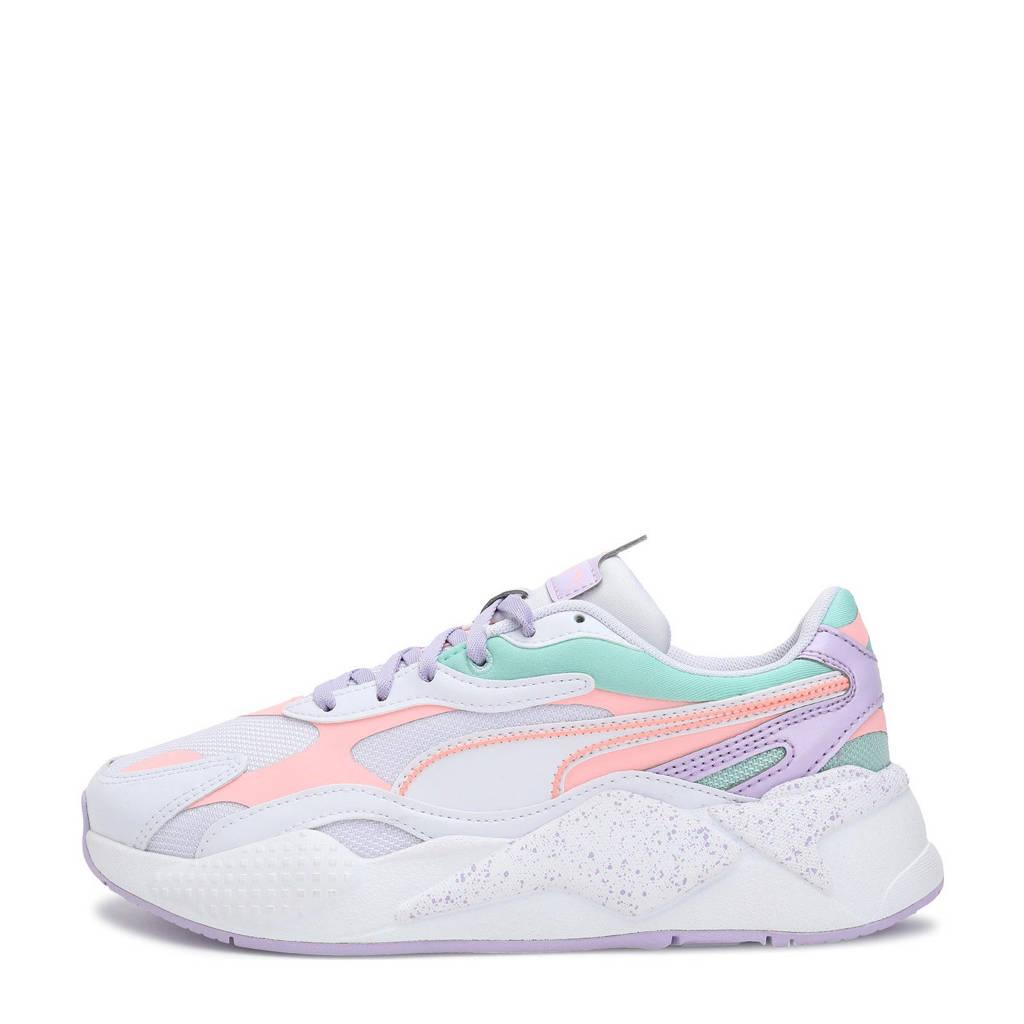 Puma RS-X³ Pastel Mix sneakers wit/licht oranje/mintgroen/lila, wit/lichtoranje/mintgroen/lila