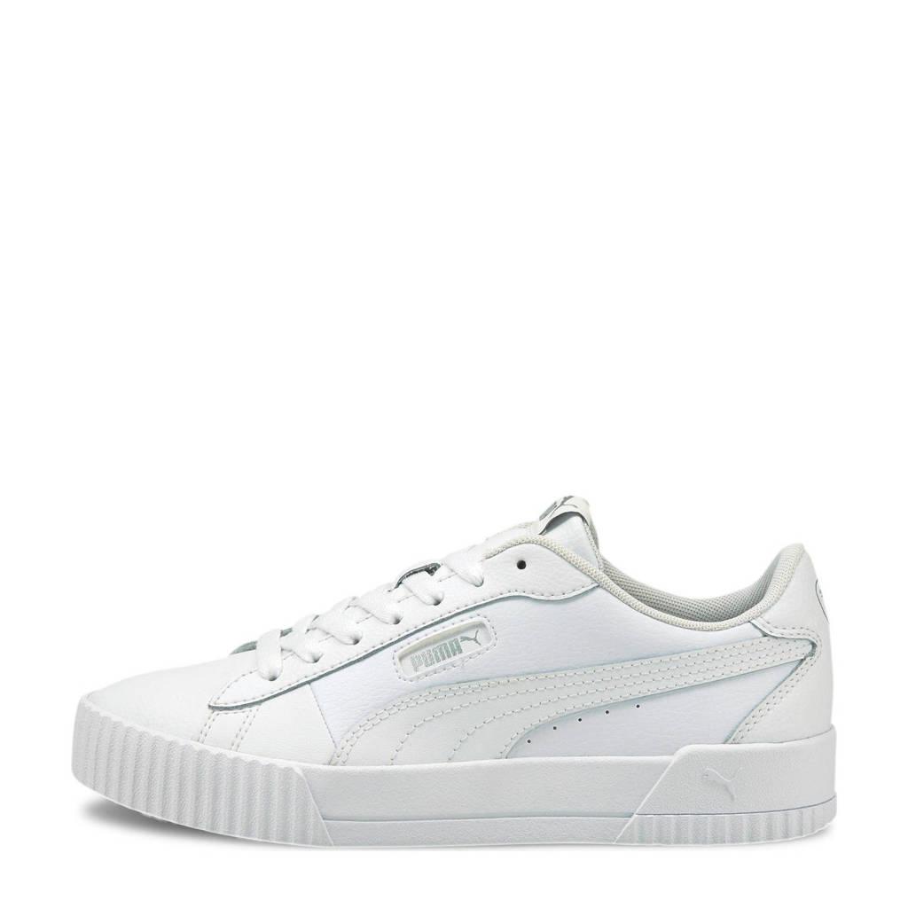 Puma Carina Crew leren sneakers wit, Wit