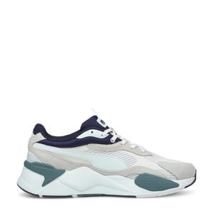 RS-X³ Twill AirMesh sneakers wit/ecru/donkerblauw