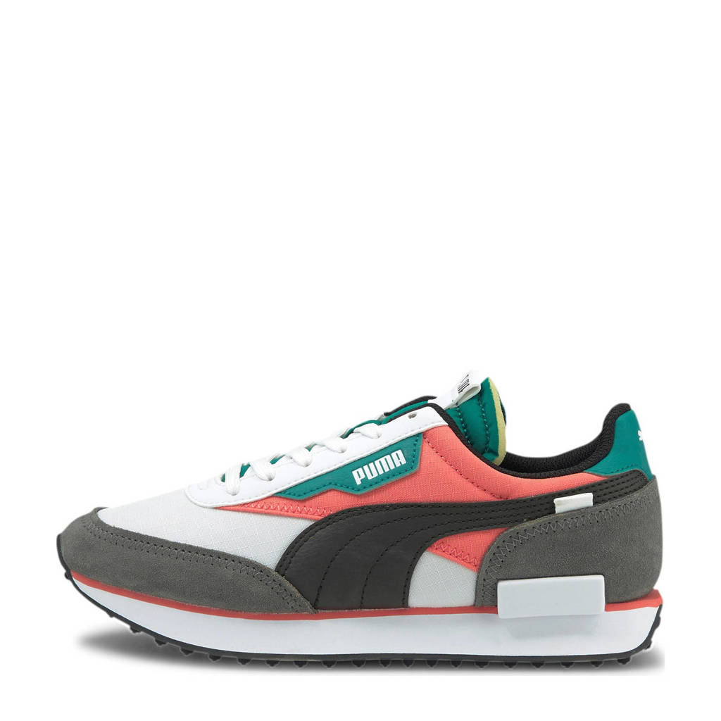 Puma Future Rider Play On sneakers wit/oranje/aqua, wit/oranje/aqua/grijs