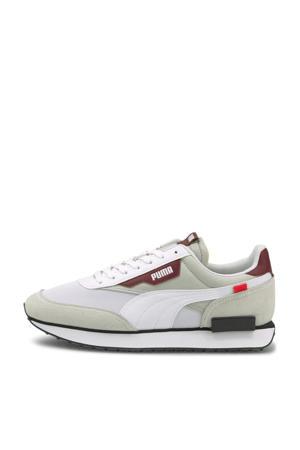 Future Rider Core sneakers wit/lichtgrijs/donkerrood