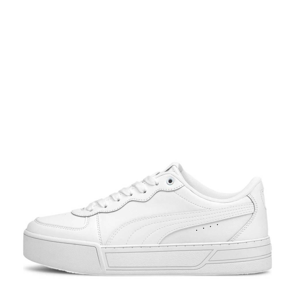 Puma Skye  leren sneakers wit, Wit
