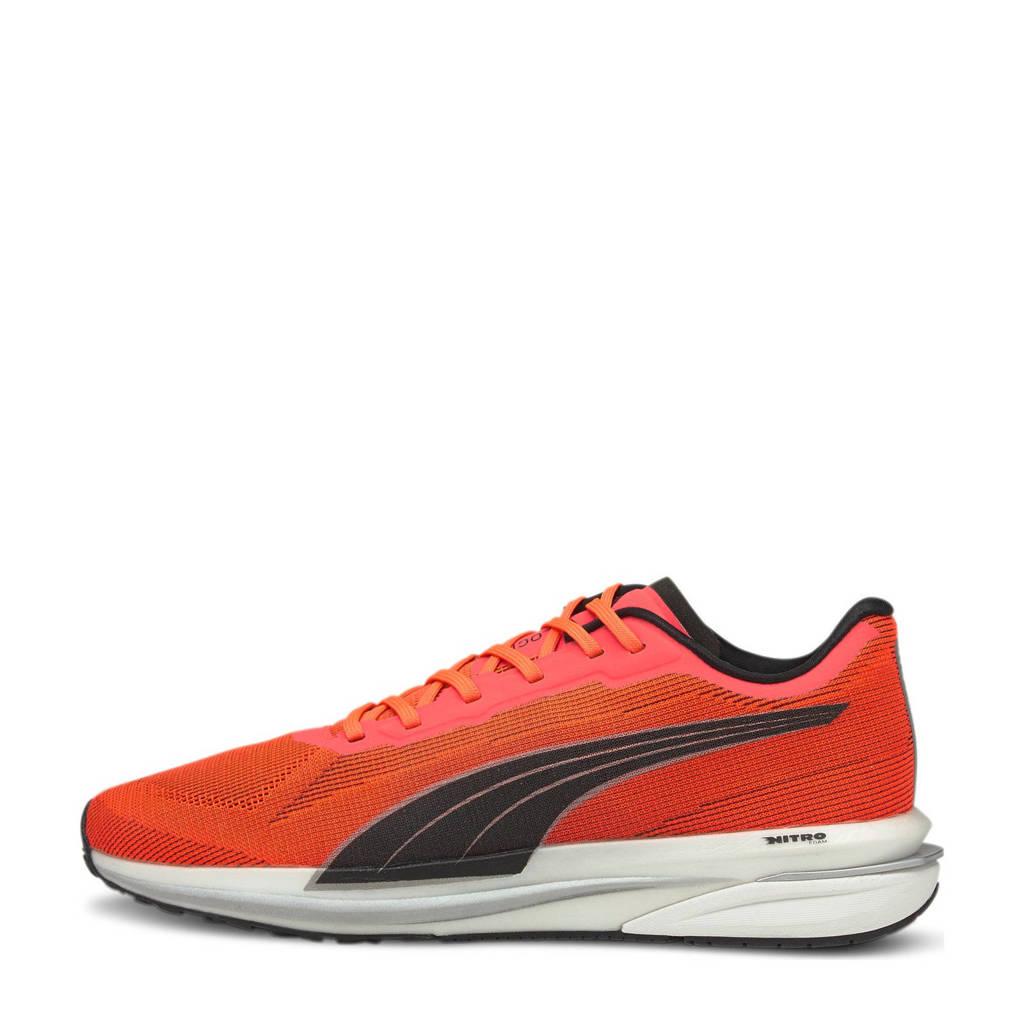 Puma Velocity Nitro Wns  hardlloopschoenen oranje/zwart/zilver