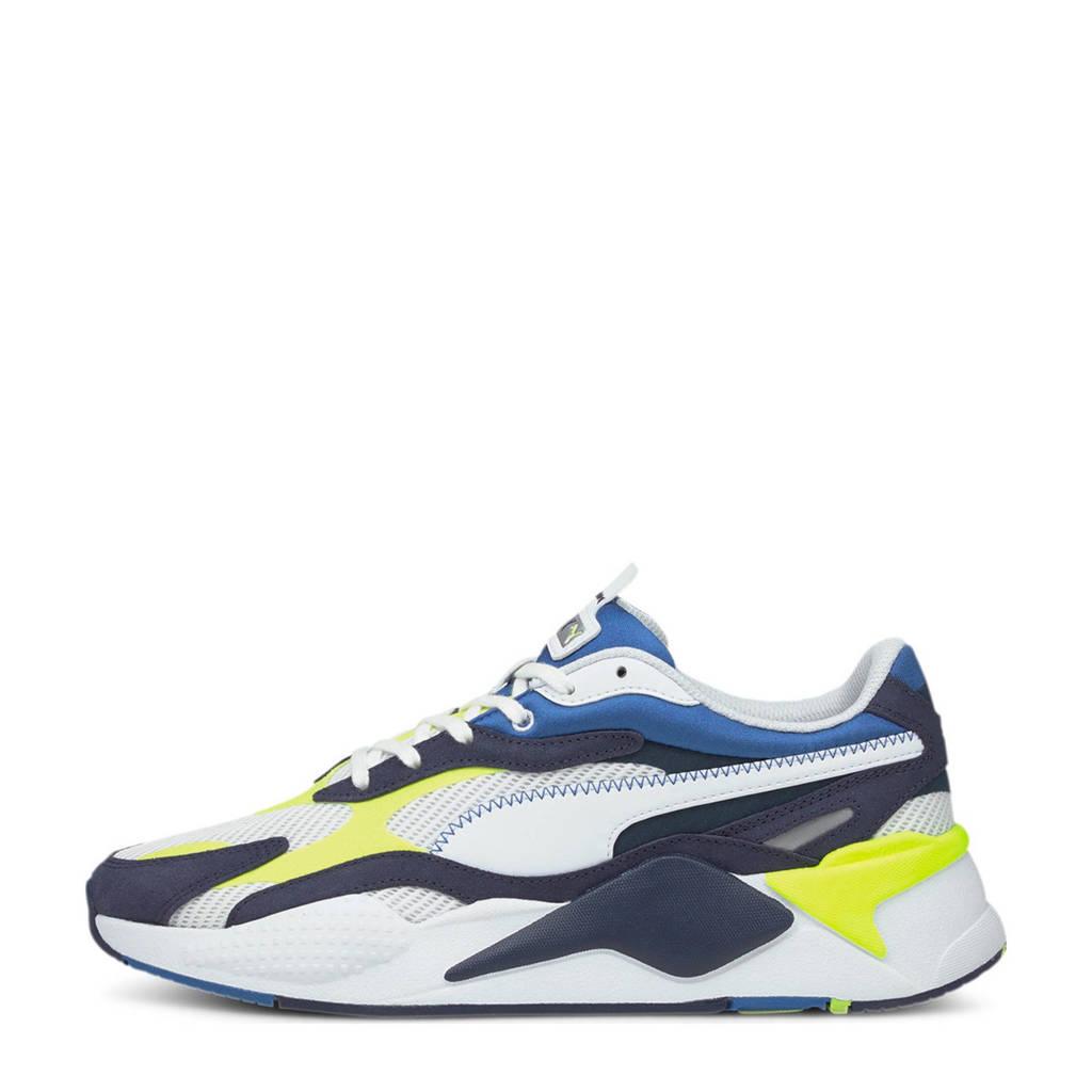 Puma RS-X³ Twill AirMesh sneakers wit/blauw/geel, Wit/blauw/geel