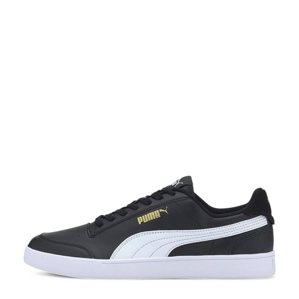 Puma Shuffle  sneakers zwart/wit/goud, Zwart/wit/goud