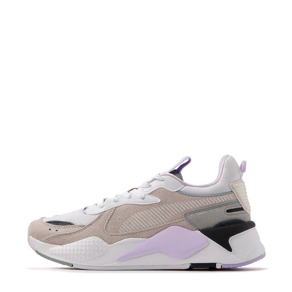 Puma RS-X Reinvent  suède sneakers grijs/wit/lila, Grijs/wit/lila