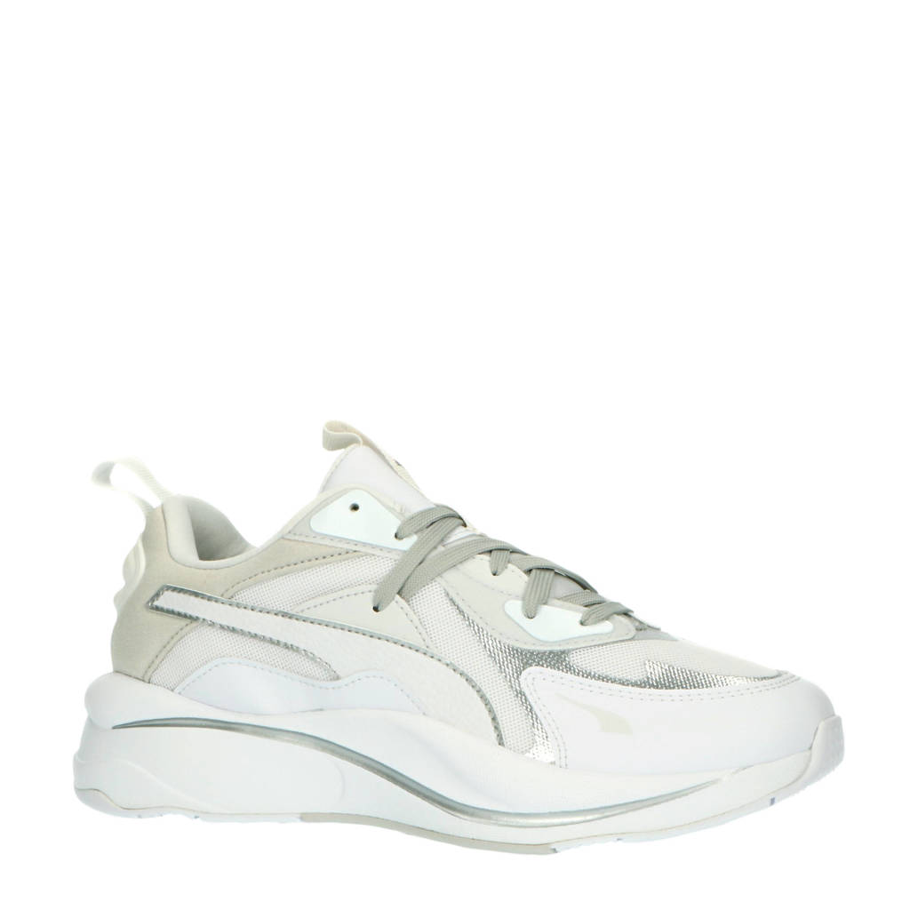 Puma RS -Curve Glow sneakers wit/lichtgrijs/zilver, Wit/lichtgrijs/zilver