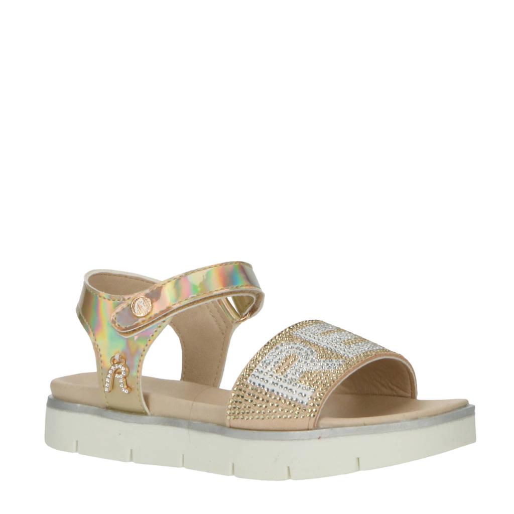REPLAY Izumo  sandalen met strass steentjes goud/wit