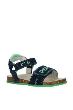 Quad  suède sandalen blauw/groen