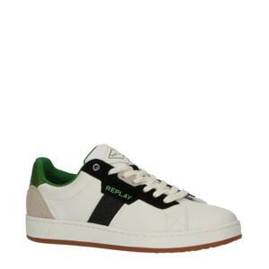 Classic Cap  leren sneakers wit/blauw/groen