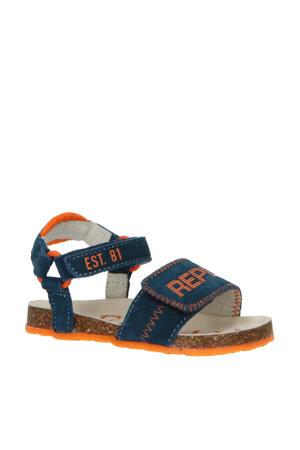 Quad  suède sandalen blauw/oranje