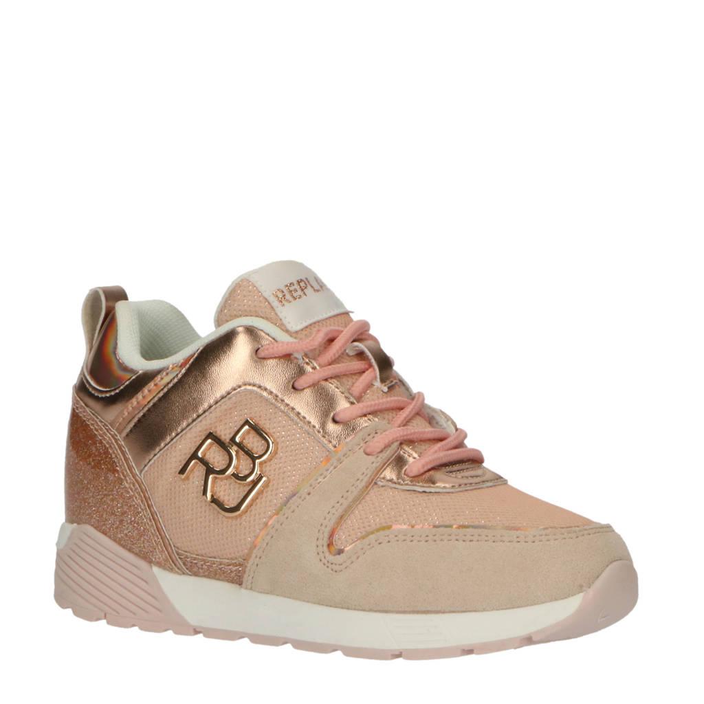 REPLAY July  sneakers roze/beige, Roze/beige