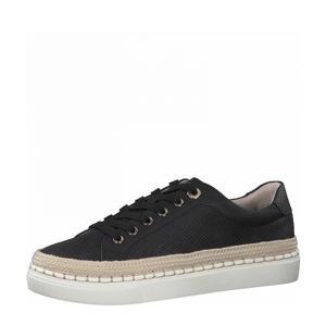 sneakers met slangenprint zwart