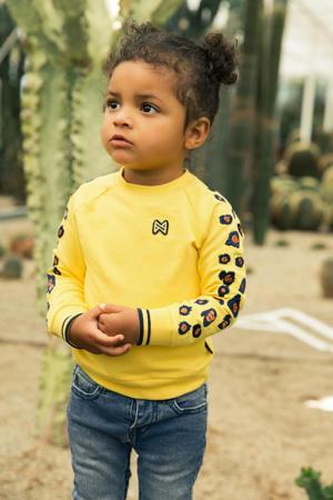 sweater geel/zwart/camel