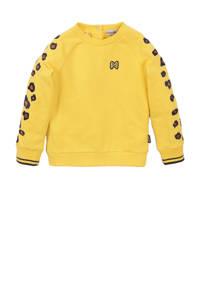 Koko Noko sweater geel/zwart/camel, Geel/zwart/camel