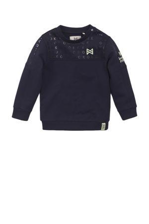 sweater met tekst donkerblauw