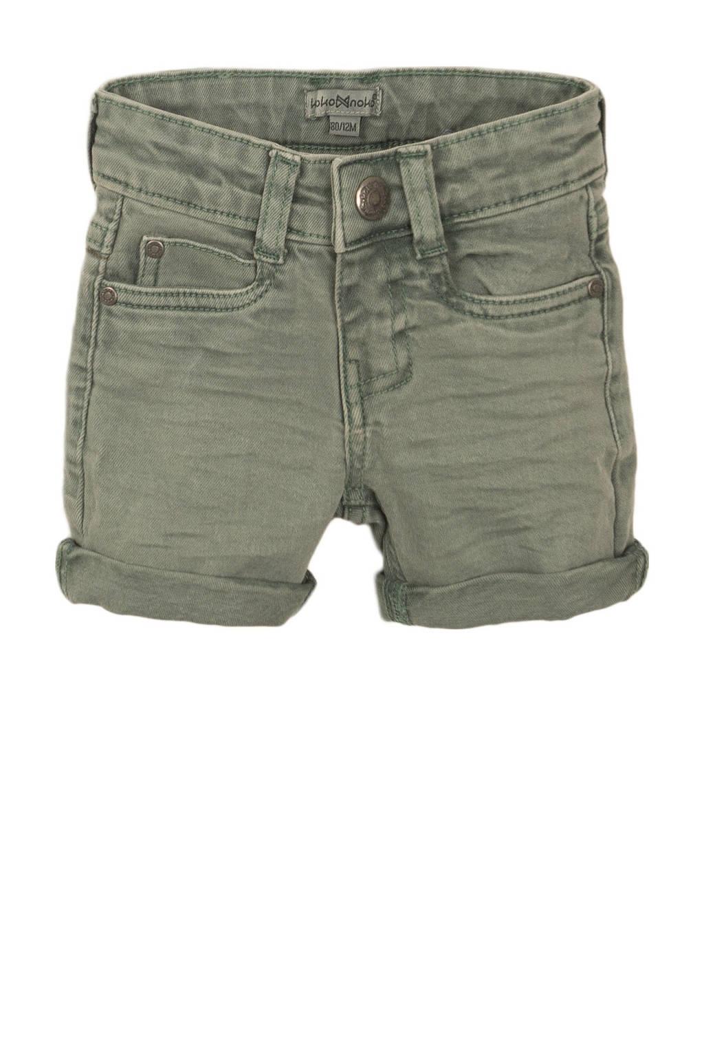Koko Noko jeans bermuda donkergroen, Donkergroen