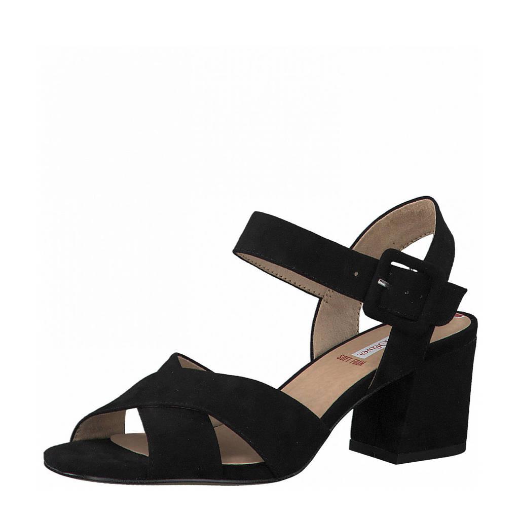s.Oliver   sandalettes zwart, Zwart