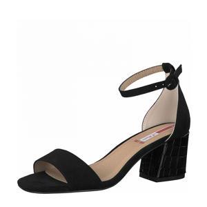 sandalettes met crocoprint zwart