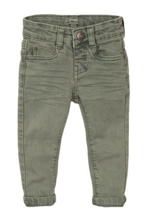 skinny jeans donkergroen