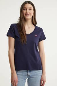 Levi's T-shirt met logo en borduursels donkerblauw/rood, Donkerblauw/rood