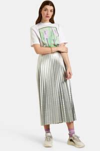 Eksept by Shoeby T-shirt San met printopdruk wit/groen/paars, Wit/groen/paars