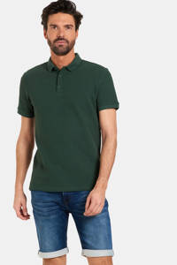 Refill by Shoeby regular fit polo Trey met textuur army green, Army Green