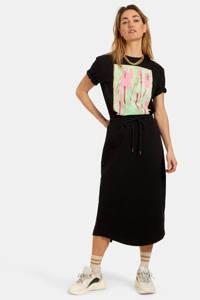 Eksept by Shoeby T-shirt San met printopdruk zwart/groen/roze, Zwart/groen/roze